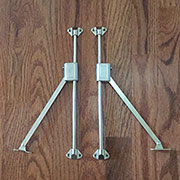 Pair of Drop Front Desk Lid Stays L&R Hand SX-8528-metLRH