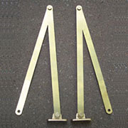 Folding Pair of Solid Brass Drop Front Desk Lid Supports  LS-18HERSH