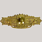 Eastlake Victorian Stamped Brass Drawer Pull B-0807 BM-1153PB