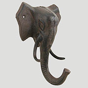 Cast Iron Elephant Coat Hook Very Large 9 Inches High UDUX-4168