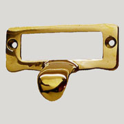 """A"" Brass File Label Card Holder /w Finger Pull FF6-BPHERSH B-3117 BM-1405PB"