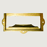 Brass Plated File Label Card Holder with Finger Pull D-3139