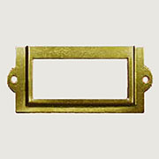Brass Plated File Label Card Holder D-3109