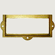 Brass Plated File Label Card Holder D-3129