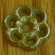 Cast Brass Floral Pattern Drawer Pull Back Plate B-0403
