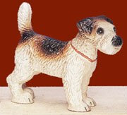Cast Iron Fox Terrier Dog Door Stop AA-13487