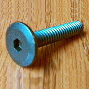 Allen Connecto-Lock Bronze Furniture Bolt 1/4 x 20 Thread 1-1/4 inch long