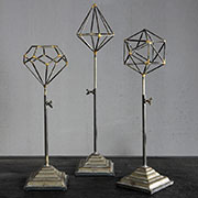 A Set of 3 Telescoping Geometric Stands HA-50036-0