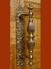 Large Brass Victorian Door Handle TR-B305300RINGP
