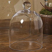 DISCONTINUED, WILL NOT SHIP. Homart Clear Glass Dome HA-8153-0