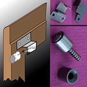 Bookcase Door Hinge Stop Pivot Bracket Set for Globe-Wernicke Macey S-2794 BM-1445AB