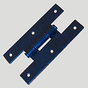 Glossy Black Iron Hinge H-405S sold by each