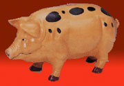 Piggy Bank Very Large Cast Iron Spotted UDX-434
