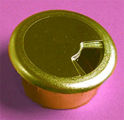 2 Inch Hole Fit Wire Grommet Nylon with Gold Plate 6200-075