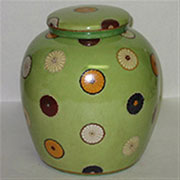 Kimono Porcelain Jar in Green by Homart HA-7042-3