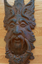 Brass door knockers - Greenman door knocker ...