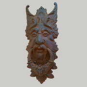 Green Man Cast Iron Giant Door Knocker UDX-895