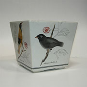 Z DISCONTINUED, WILL NOT SHIP Homart Audubon Lg. Sq. Cahchepot HA-7037-70