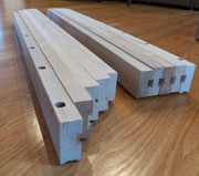 Pair of Wooden Table Slides W-5109