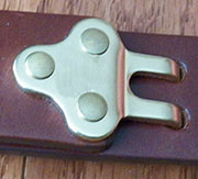 Brass Harness Belt Adjuster Hook.