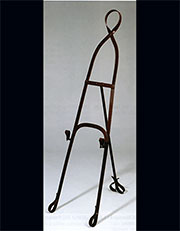 Faux Painted Leather Harness Steel Easel AA-24298