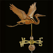 Heron Copper Weathervane UDW-248P