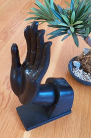 Hand in Black Cast Iron HA-1827-2