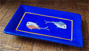 Aquatic Blue Porcelain Tray by Homart HA-7011-2