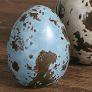 Post & Quill Porcelain Speckled Brown Blue Bird Egg Small HA-7001-47