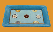 Discontinued Will Not Ship. Homart Kimono Blue Porcelain Tray HA-7011-10