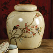 Autumn Cherry Blossom Porcelain Grand Ginger Jar by Homart HA-7091-137