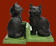 Pair of Homart Black Kitten Bookends HA-1668-2