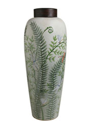 Z Discontinued will not ship. Homart Morning Fern Jar HA-7098-38