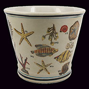 Aquatic Nautical Porcelain Cachepot by Homart HA-7031-21
