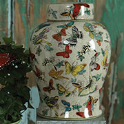 Montage Butterfly Porcelain Jar by Homart HA-7048-122