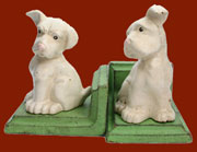 Pair of Homart White Puppy Dog Bookends HA-1665-6