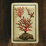 Red Coral AquaticSea Life Porcelain Tray by Homart HA-7011-170
