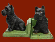 Cast Iron Scottie Dog Bookends Pair Homart HA-1667-2