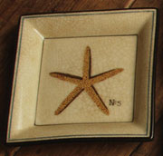 Aquatic Nautical Porcelain Starfish Tray by Homart HA-7015-25