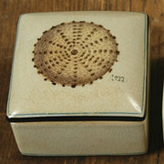 Aquatic Nautical Porcelain Lidded Urchin Box by Homart HA-7021-21