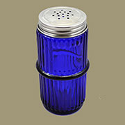 Hoosier Mission Style Ribbed Cobalt Blue Spice Jar MSJ-1B
