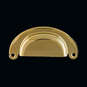 (B)Hoosier Drawer Bin Pull in Stamped Brass B-1317 B-16 BM-1160PB