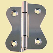 Hoosier Cabinet Hinge Nickel Sold by Each I-34N BM-1602PN