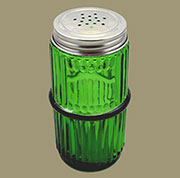 Hoosier Mission Style Ribbed Green Spice Jar MSJ-1G