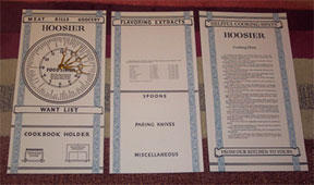 Hoosier Menu Door Cards HDC-1