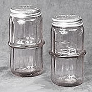 ONLY JAR LEFT,Not a Pair. Clear Hoosier Colonial Spice Jar, HSJ-1 AA-16519