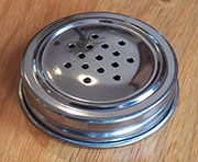 Spice Jar Lid for Hoosier Jars Plated Steel JL-3