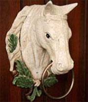 "Horse Head Wall Hanger ""Churchill Trophy Ring"" HA-1538-0"