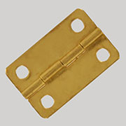 Small Brass Butt Hinge 1 inch by 5/8 inches OBX-HNG