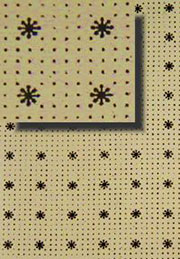 Antique Trunk Interior Lining Paper Stars and Dots H-4131